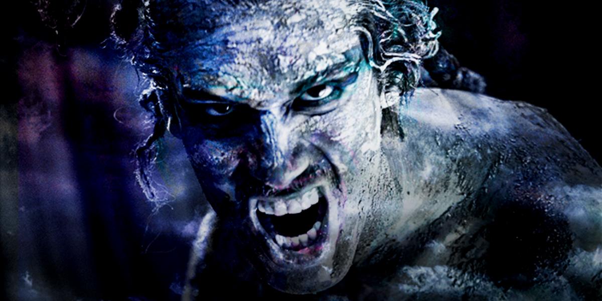 Renato Rueda en el papel de Calibán en La Tempestad