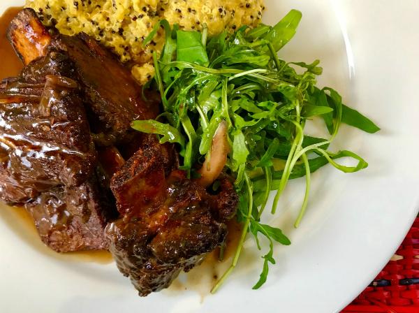 Malaya al horno con Quinoto en Restaurante Pachapapa de Cusco - Najid Soto